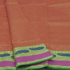 Mercerised Cotton Saree Orange with Mango Border