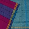 Silk Cotton Saree-Pink and Sky Blue Partly with zari border