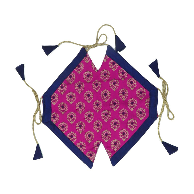 Paavadai Sattai-pink and blue with zari Border(1 year)