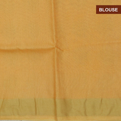 Bhagalpuri Paper Silk Saree Light Orange with Simple border partly