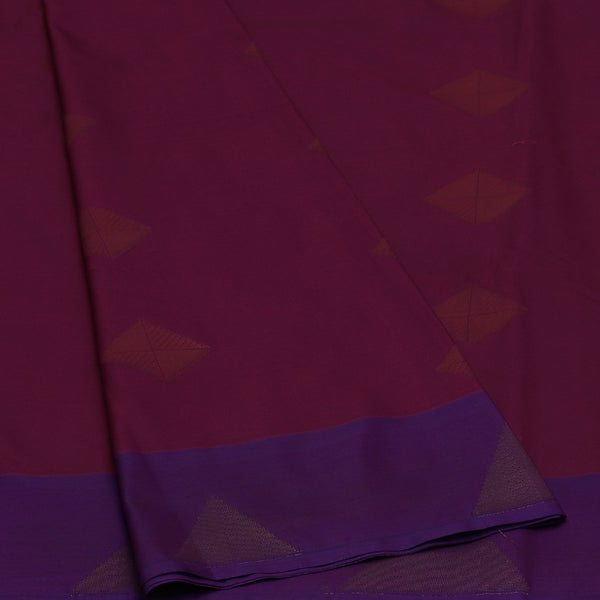 Art Silk Saree Violet and Pink Dual Shade With Temple zari Border