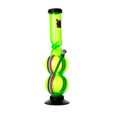 Coloured Acrylic Double Bubble Bong Green Ireland