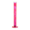 Black Leaf Glass Bong Ice LED-Light neon Red