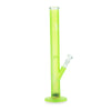 Black Leaf Glass Bong Ice LED-Light neon Green