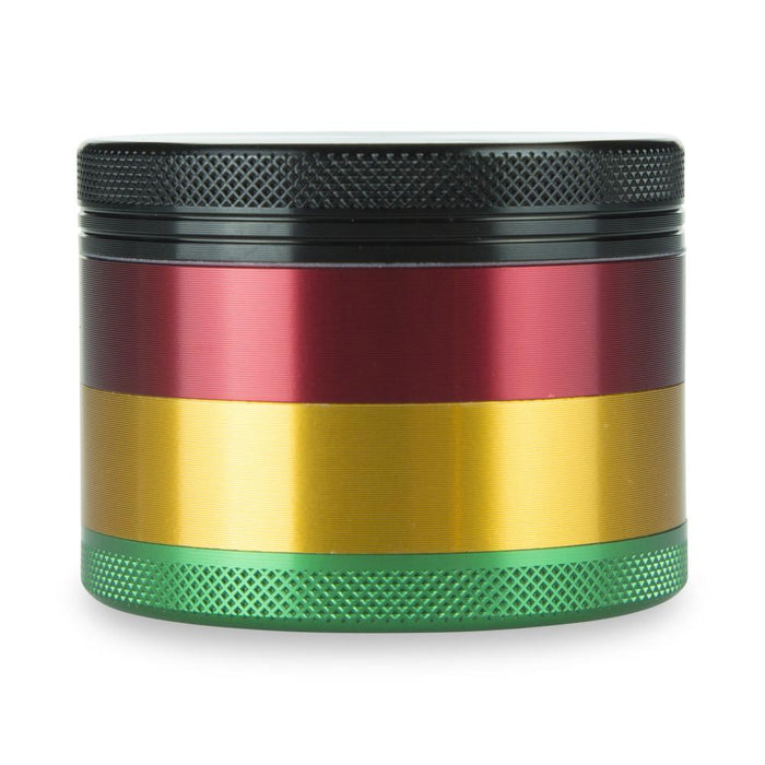 "4 Part 2.5"" Aluminium Rasta Grinder with Sifter"