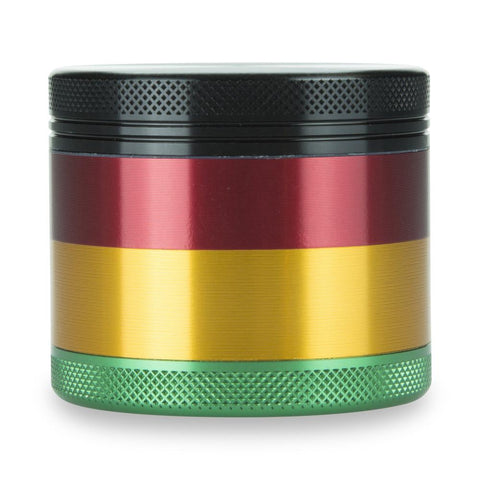 4 Part Aluminium Rasta Pocket Grinder with Sifter