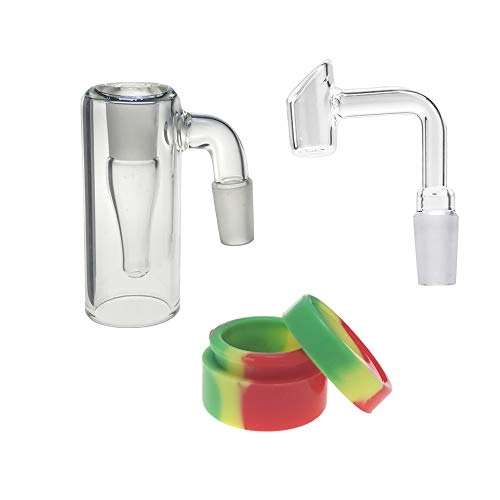 with 90 Degrees Bowl 14mm Glass Collector with Silicone Container