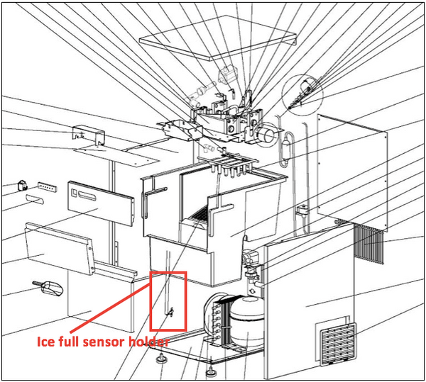 2017 Ice full sensor holder