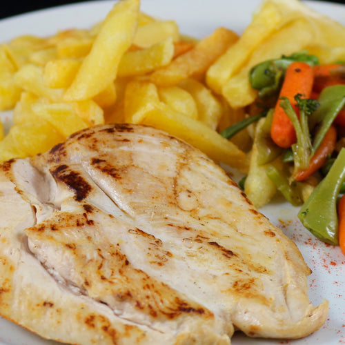 CHICKEN BREAST WITH FRENCH FRIED