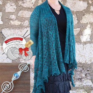 Indie Gift A Long Shawl Pin Style Spotlight: Cardigan Edition-Crafty Flutterby Creations