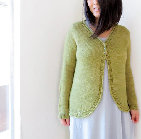 Intrigue Knitted Cardigan Pattern by YellowCosmo