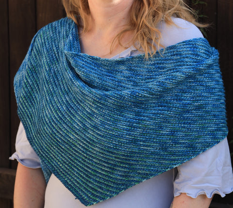 Curved Space Tunisian Crochet Shawl