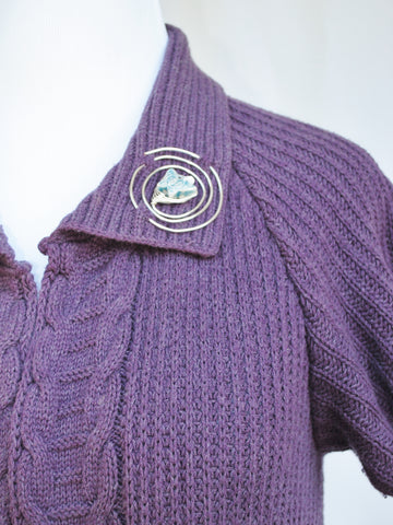 Shawl Pin on Cardigan