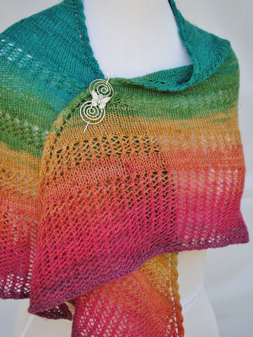 Apparent Plot Triangle Shawl with Butterfly Shawl Pin 1