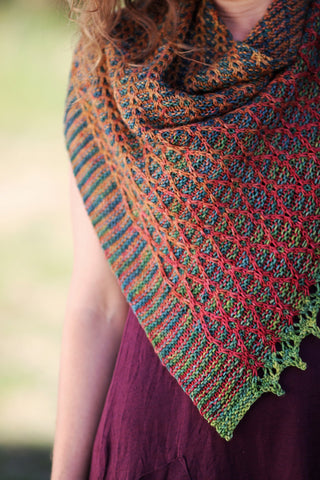 Veridigreen knit shawl