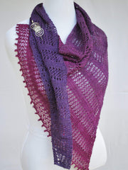 Apparent Glitx Beaded Shawl With Picot Bind off