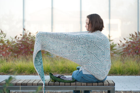 Beneath my Wings Knit Shawl