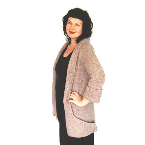Coatigan knit cardigan pattern by Ambah O Brien