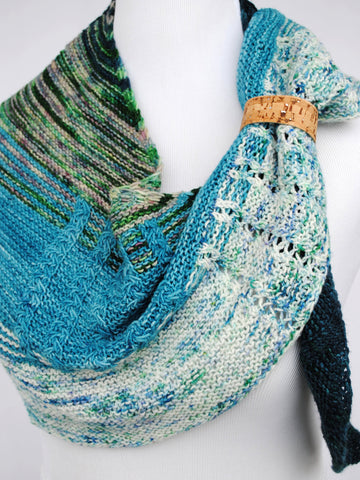 Shawl with Cork Cuff