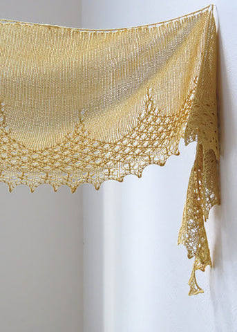 Tickled by Your Smile Knitted Shawl Pattern by YellowCosmo