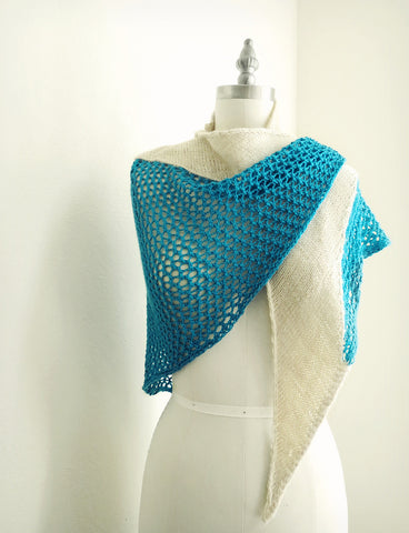 Being Here Knitted Shawl Pattern by YellowCosmo
