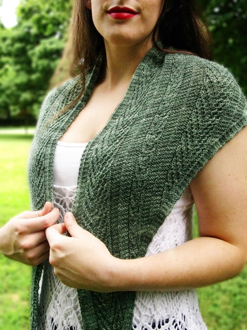 Silver Fir Knit Shawl