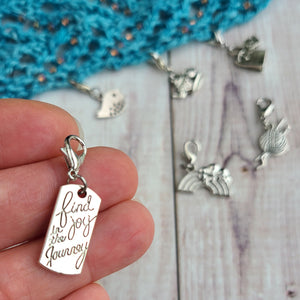 Thoughtful Set of Progress Keeper, Stitch Markers or Zipper Pulls