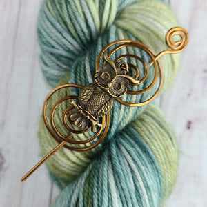 Owl Shawl Pin - Charmed Vintage Bronze