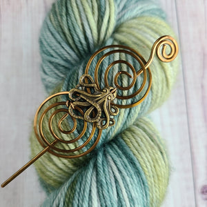 Octopus Shawl Pin - Charmed Vintage Bronze