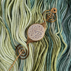Celtic Shawl Pin - Large Bronze Noteworthy
