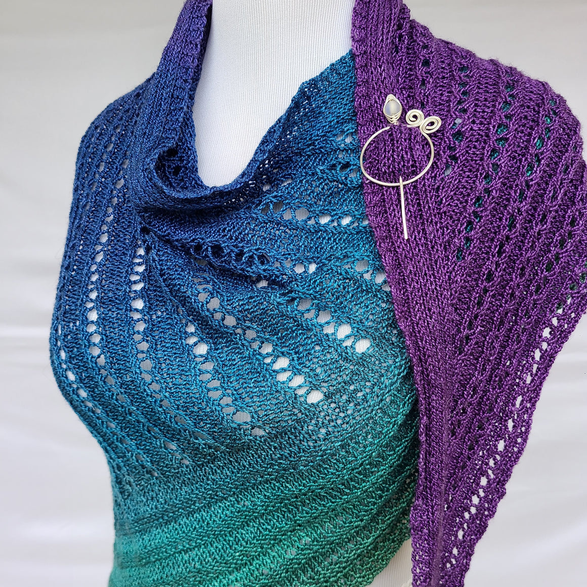 Ages Hence PDF Knitting Pattern Download Triangle Shawl
