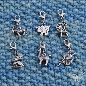 Archived, Animal Fiber Progress Keepers, Stitch Markers, or Zipper Pulls - Crafty Flutterby Creations