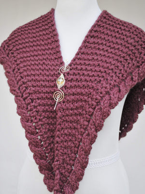 Pattern, Apparent Cables PDF Knitting Pattern Download Very Easy Cable Shawl - Crafty Flutterby Creations