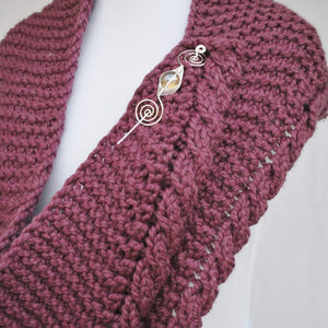 Apparent Cables PDF Knitting Pattern Download Very Easy Cable Shawl-Crafty Flutterby Creations