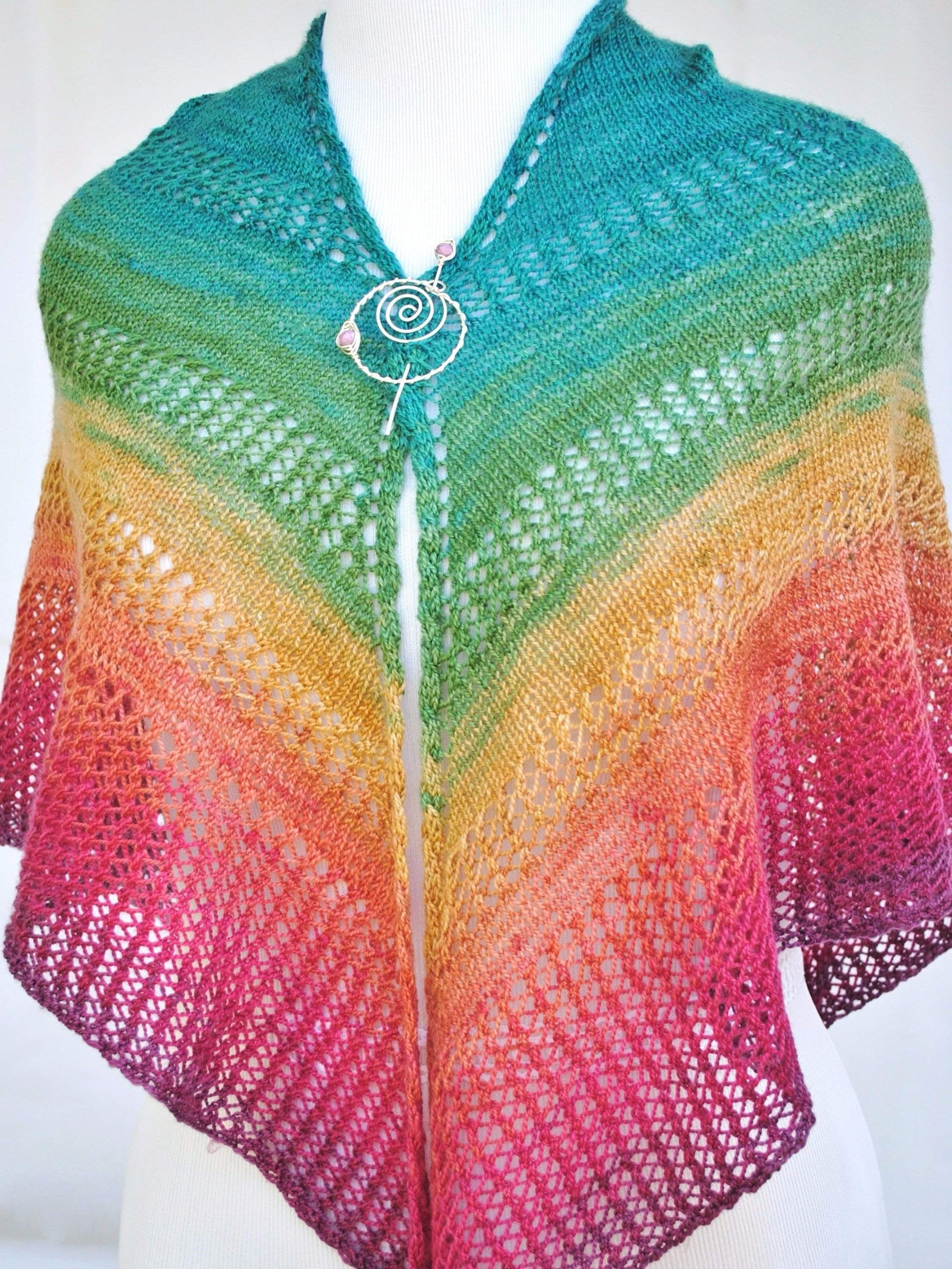 Apparent Plot PDF Knitting Pattern Download Triangle Shawl - Crafty ...