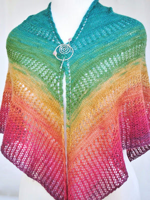 Pattern, Apparent Plot PDF Knitting Pattern Download Triangle Shawl - Crafty Flutterby Creations