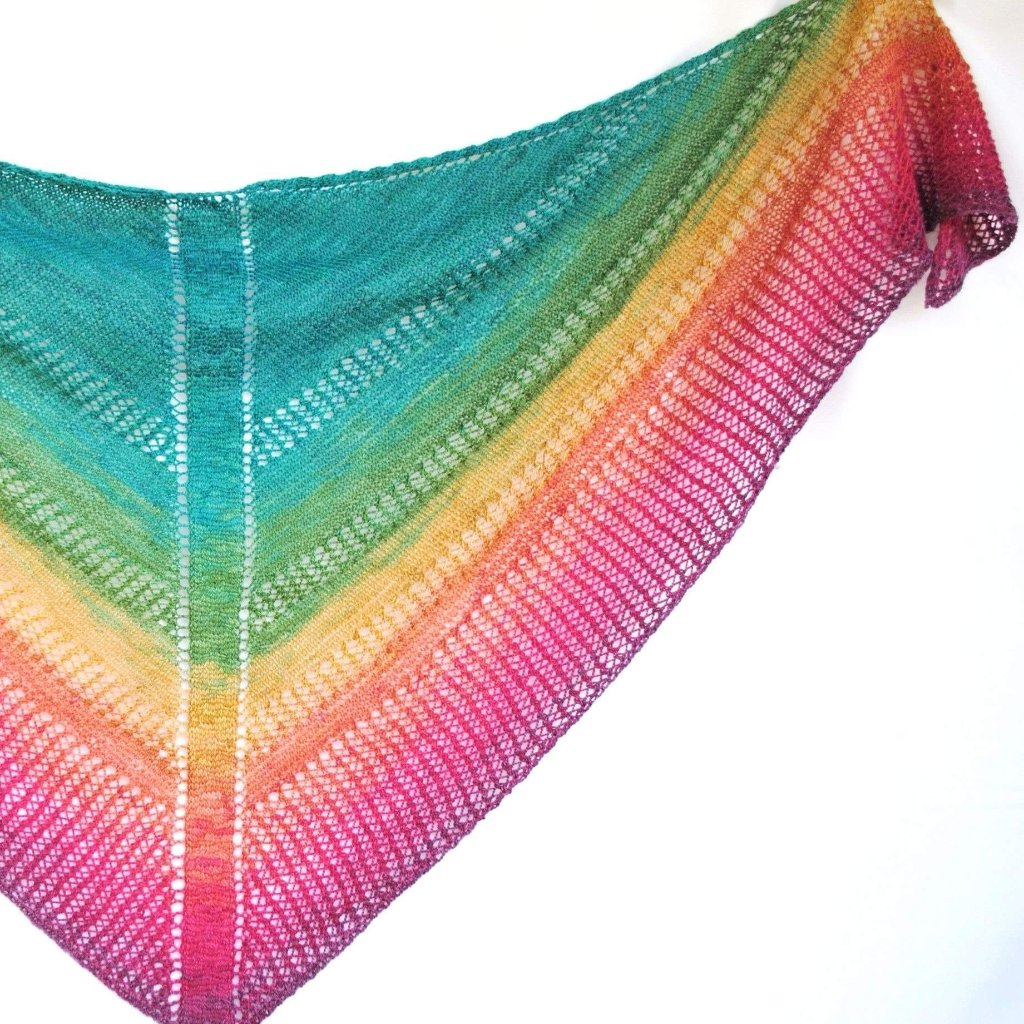 Apparent Plot PDF Knitting Pattern Download Triangle Shawl-Pattern-Crafty Flutterby Creations