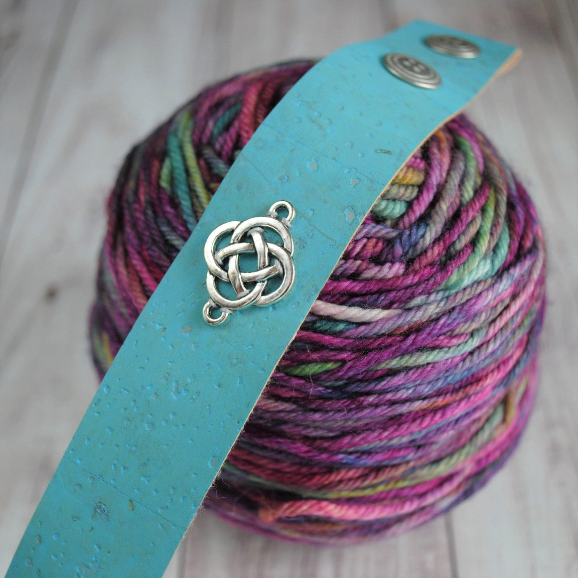 Shawl Cuff, Aqua Celtic Shawl Cuff - Charmed - Crafty Flutterby Creations