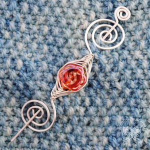 Autumn Flower Shawl Pin- Noteworthy Colors Silver - Last Chance!-Shawl Pin-Crafty Flutterby Creations
