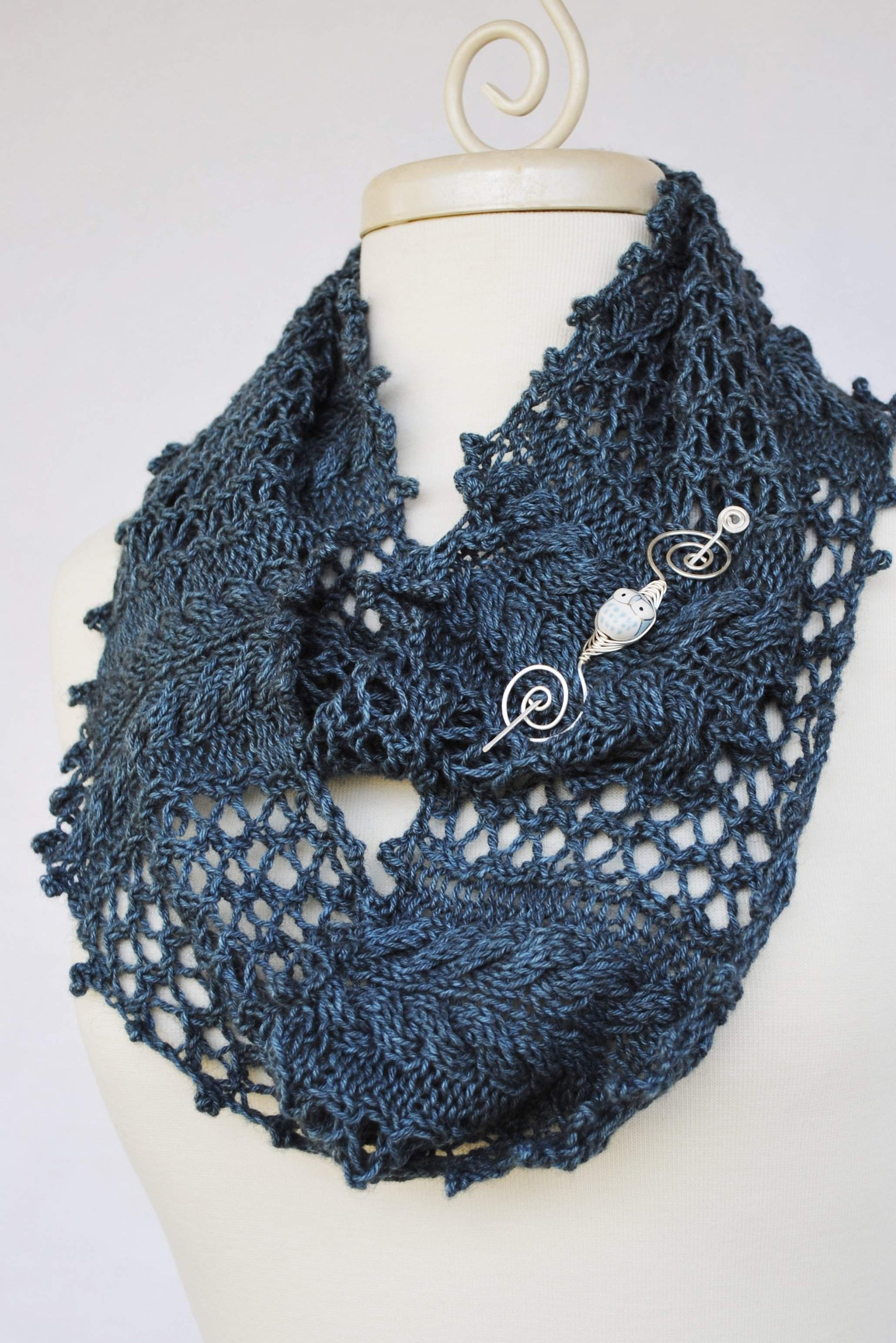 Bayleaf Garden Knit Infinity Scarf Pdf Pattern Download Crafty