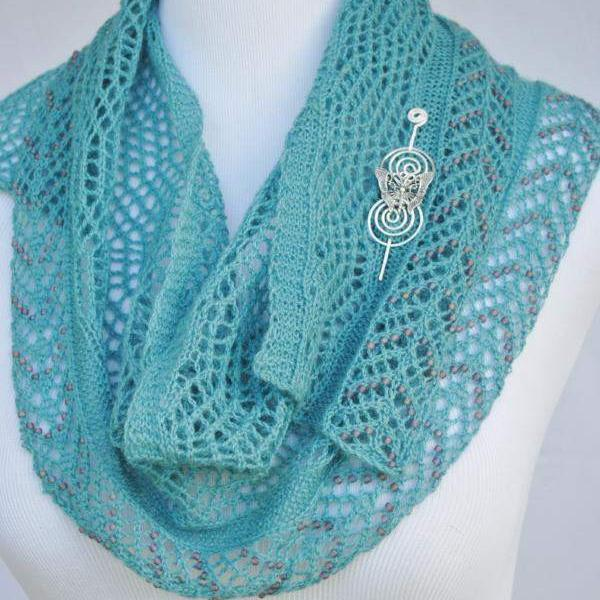 Beadazzled Beaded Lace Shawl Knitting Pattern Pdf Download Crafty
