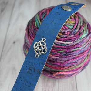 Shawl Cuff, Blue Celtic Shawl Cuff - Charmed - Crafty Flutterby Creations