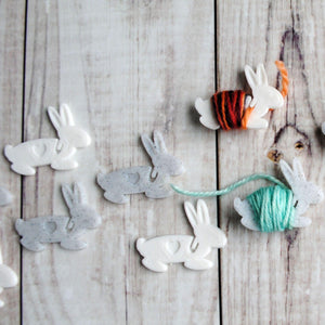 Useful Accessories, Bunny Hugs - End Minders for Knit and Crochet - Crafty Flutterby Creations