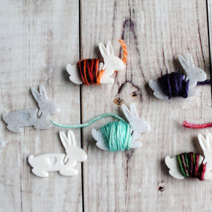 Bunny Hugs - End Minders for Knit and Crochet-Useful Accessories-Crafty Flutterby Creations