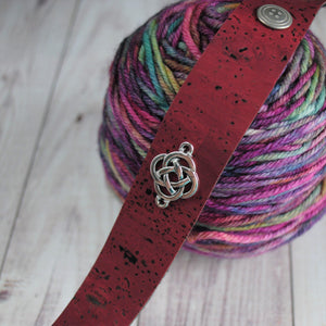 Shawl Cuff, Burgundy Celtic Shawl Cuff - Charmed - Crafty Flutterby Creations