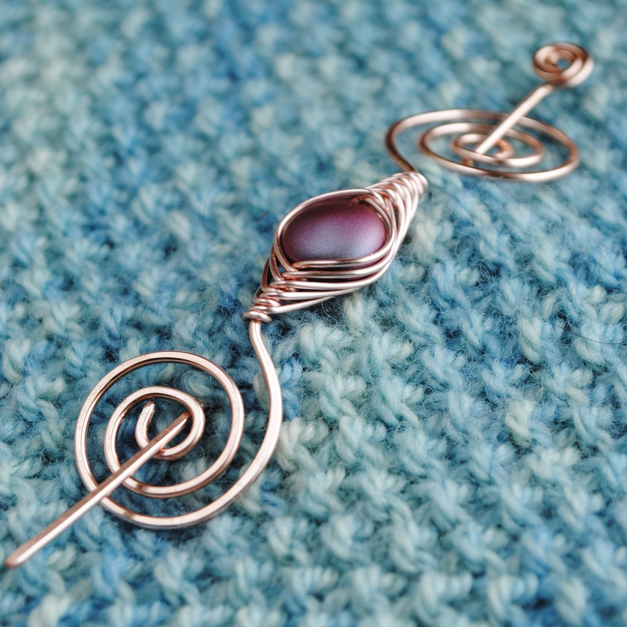 Burgundy Shimmer Shawl Pin - Rose Gold Noteworthy Classic - Crafty ...