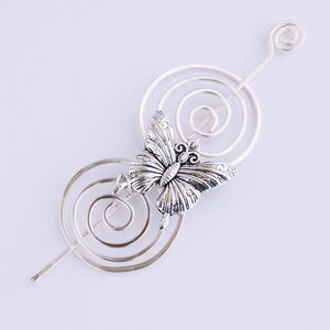 Butterfly Shawl Pin - Charmed Silver-Shawl Pin-Crafty Flutterby Creations