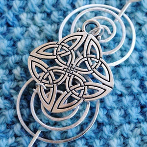 Shawl Pin, Celtic Knot Shawl Pin - Charmed Silver - Crafty Flutterby Creations