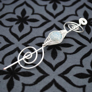 Shawl Pin, Celtic Knot Shawl Pin- Noteworthy Classic - Crafty Flutterby Creations