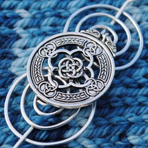 Celtic Knot Shawl Pins - Charmed Silver-Shawl Pin-Crafty Flutterby Creations